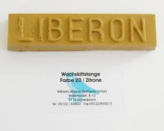 Liberon Wachskittstange Farbe 20 / Zitrone