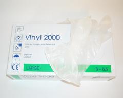 Vinyl Einweghandschuhe groß